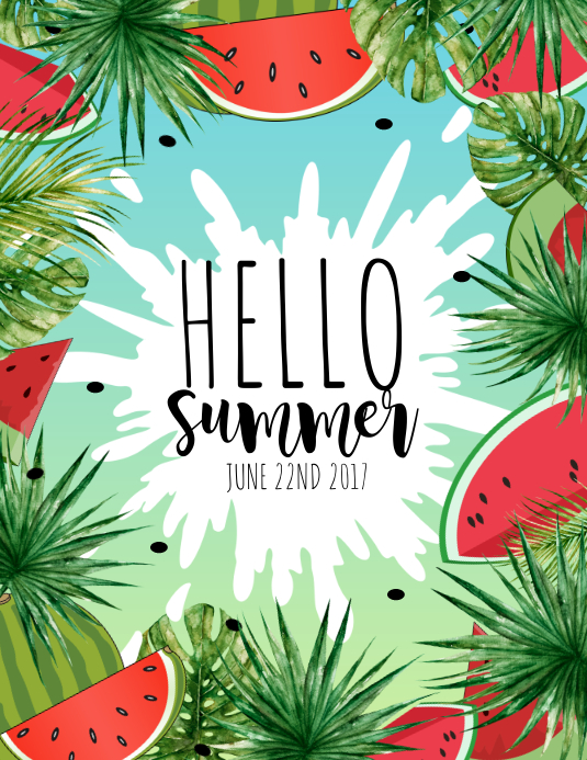 summer template postermywall