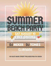 17 030 customizable design templates for summer beach party