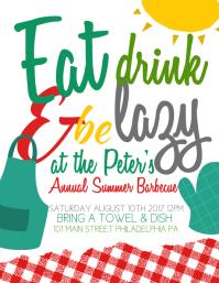 summer bbq flyer template free