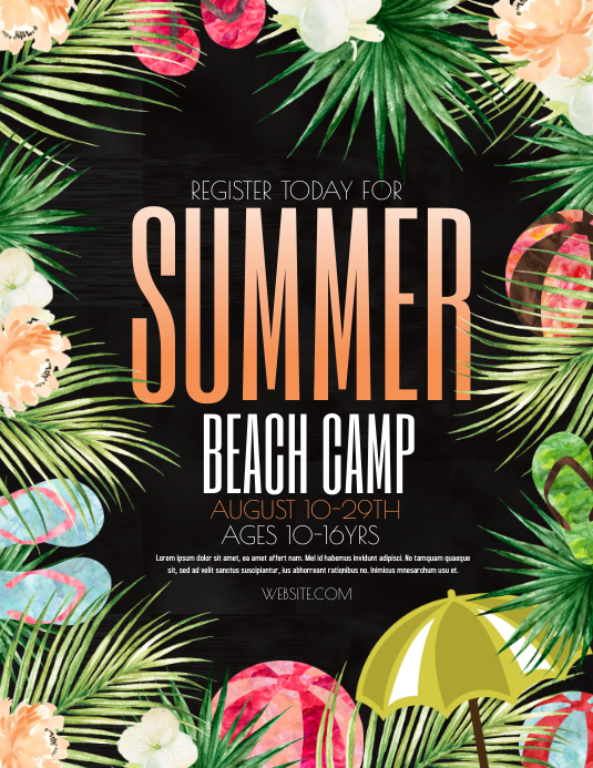 Summer Flyer (US Letter) template