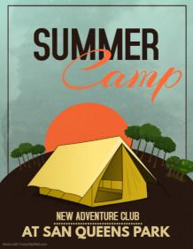 Summer flyers,summer camp flyers,event flyers
