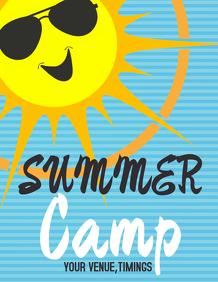 summer flyers,summer camp flyers