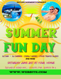 SUMMER fun day EVENT FLYER POSTER TEMPLATE