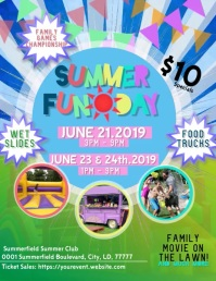 Summer Fun Day Flyer template