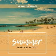 summer games and activity Instagram Post template
