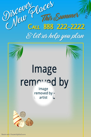 Summer Getaways Poster Template