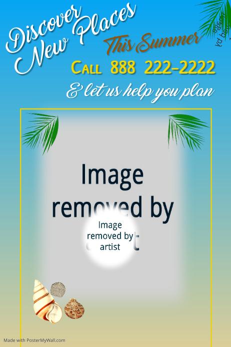 Summer Getaways Poster Template