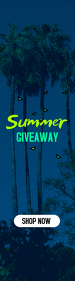 Summer Giveaway Web Banner Template Skyscraper Ancho