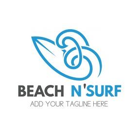 summer grey and blue logo template logo