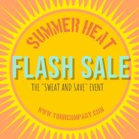 Summer Heat Flash Sale Pos Instagram template