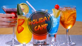 SUMMER HOLIDAY CAMP Tampilan Digital (16:9) template