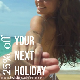 summer holiday promotion instagram post