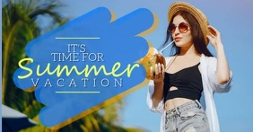 SUMMER HOLIDAY VACATION AD Template Facebook Shared Image