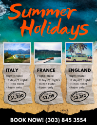 Summer Holidays Flyer