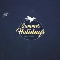 Summer Holidays Instagram Post Album Omslag template