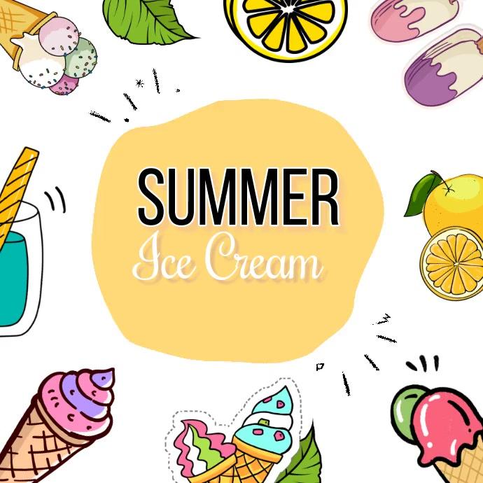 summer ice cream Pos Instagram template