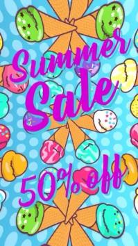 Summer ice cream sale