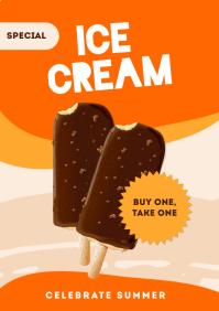 Summer Ice Cream Templates A4