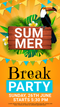 summer Instagram story, summer template