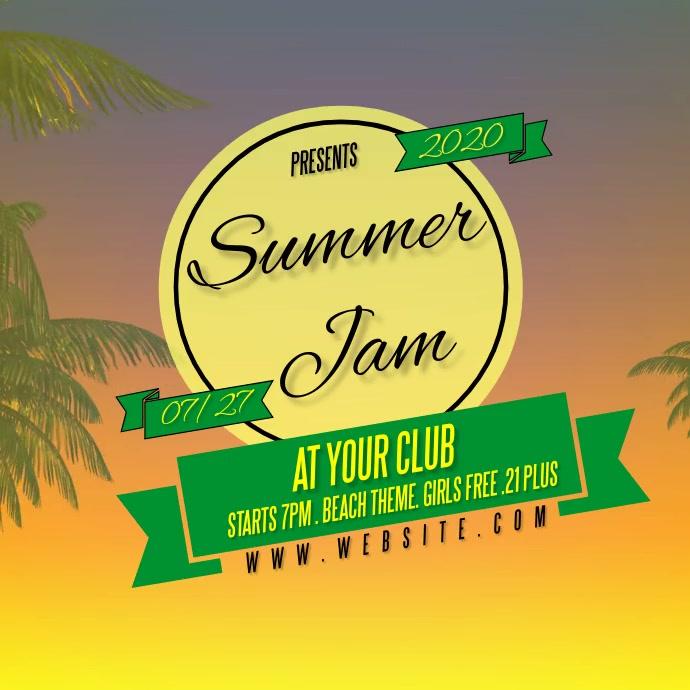 SUMMER JAMAICAN design template Logo
