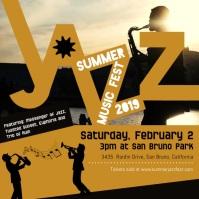Summer Jazz Concert Custom Online Advert