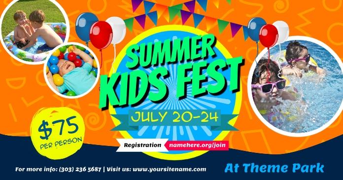 Summer Kids Fest auf Facebook geteiltes Bild template