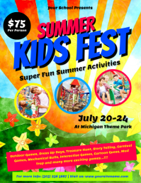 Summer Kids Fest Flyer Template  Fun Poster Templates