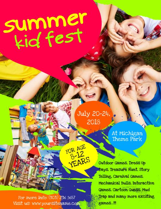 Summer Kids Fest Flyer Template