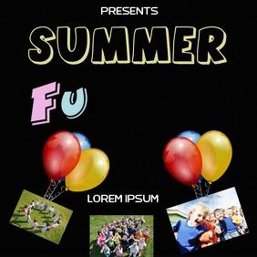 SUMMER KIDS FUN DAY AD SOCIAL MEDIA Quadrato (1:1) template