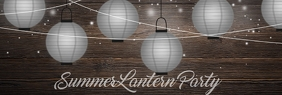 Summer Lantern Party LinkedIn Banner template