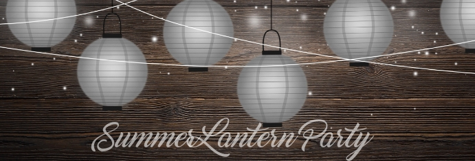 Summer Lantern Party Banner do LinkedIn template