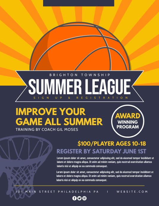 Summer League Volante (Carta US) template