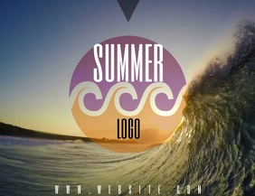 Summer Logo Design template