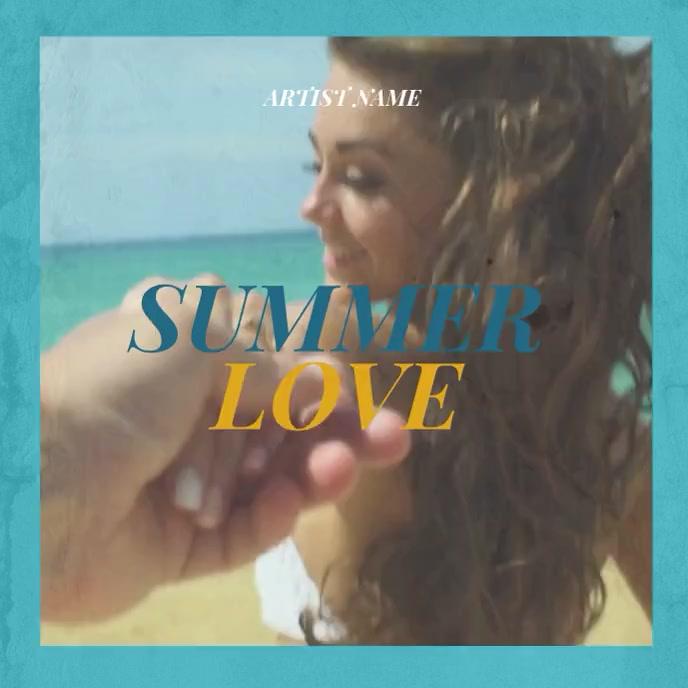 Summer Love Music Album Cover template