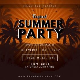 Summer Luau Party Invitation