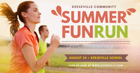 Summer Marathon Run Facebook Banner