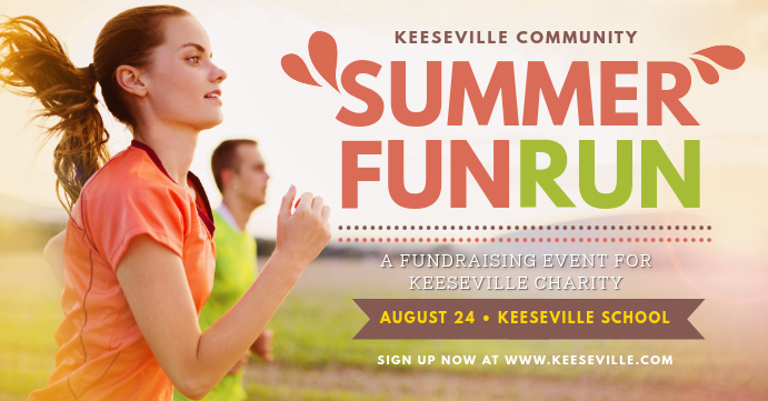 Summer Marathon Run Facebook Banner template