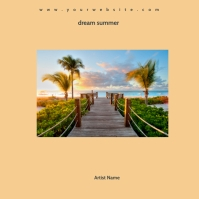 summer mixtape album cover template