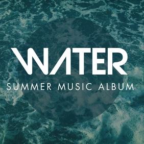 summer music album cover design template