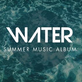 summer music album cover design template Albumcover