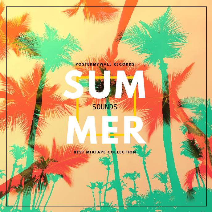 Summer Music Album Cover Template 专辑封面