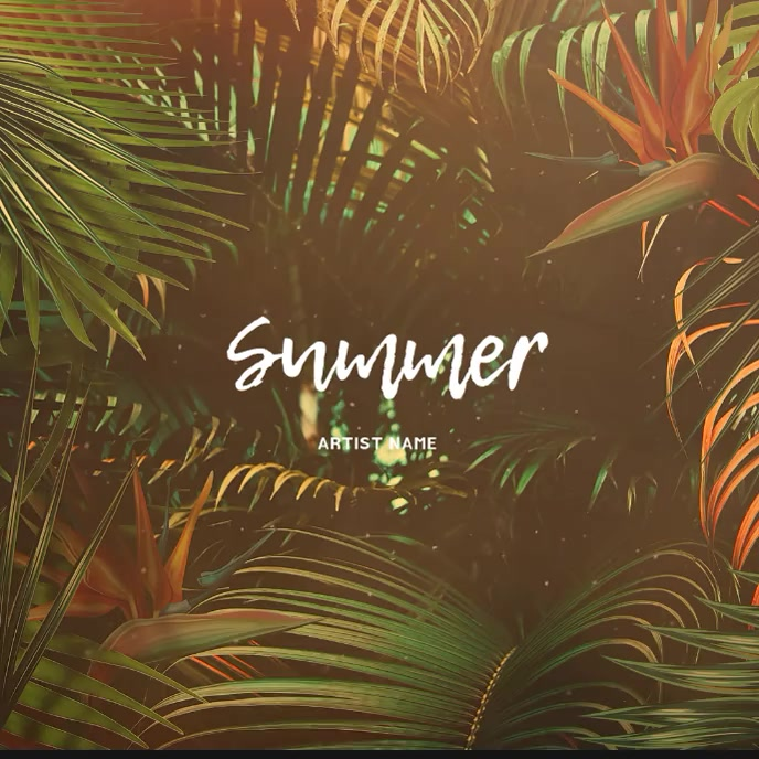 Summer Music Album Cover Video Template