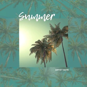 Summer Music Album Cover Video Template
