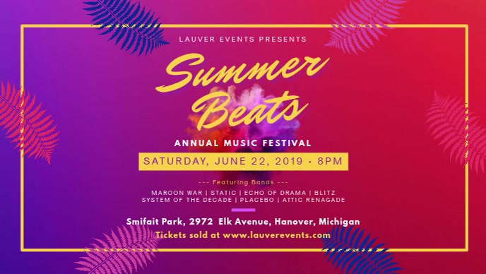Summer Music Festival Video Banner