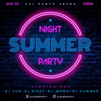 SUMMER NIGHT BANNER Instagram Post template