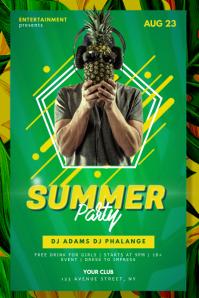 Summer Night Club Dj Party Flyer Template