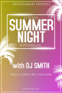 summer night club event party flyer template