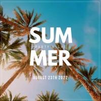 Summer night event video template