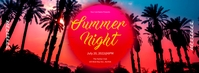 Summer Night Facebook Cover Facebook-coverfoto template