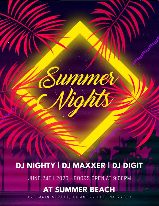 Summer Nights Flyer